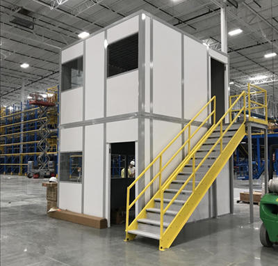 Two Story Modular Office for Distribution Warehouse by Industrial Equipment Erectors