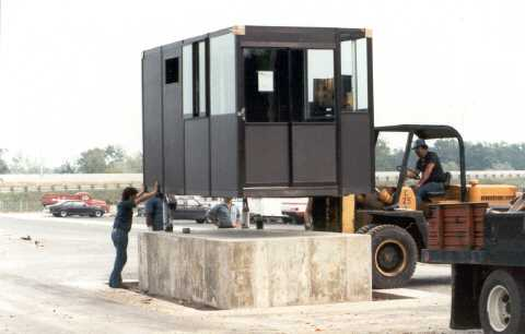 Exterior Guard Shack being installed by Industrial Equipment Erectors