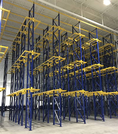 Industrial Equipment Erectors installation of Drive Through Pallet Racking