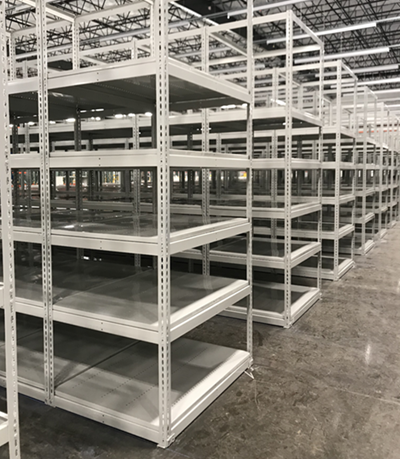 Rivet Shelving installed by Industrial Equipment Erectors